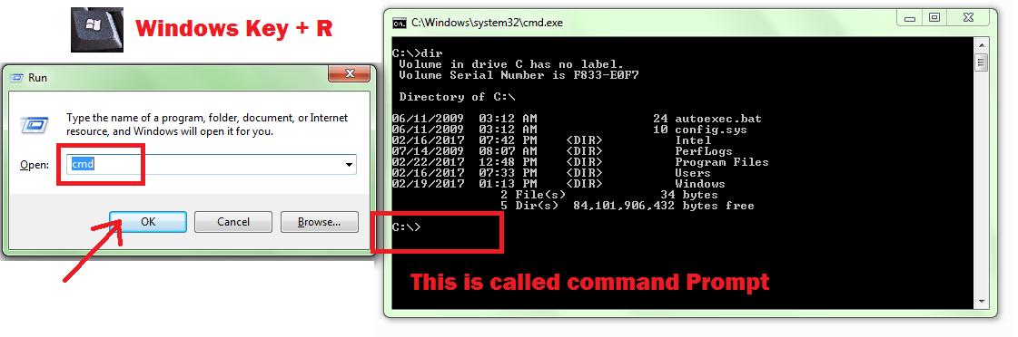 command prompt shortcuts