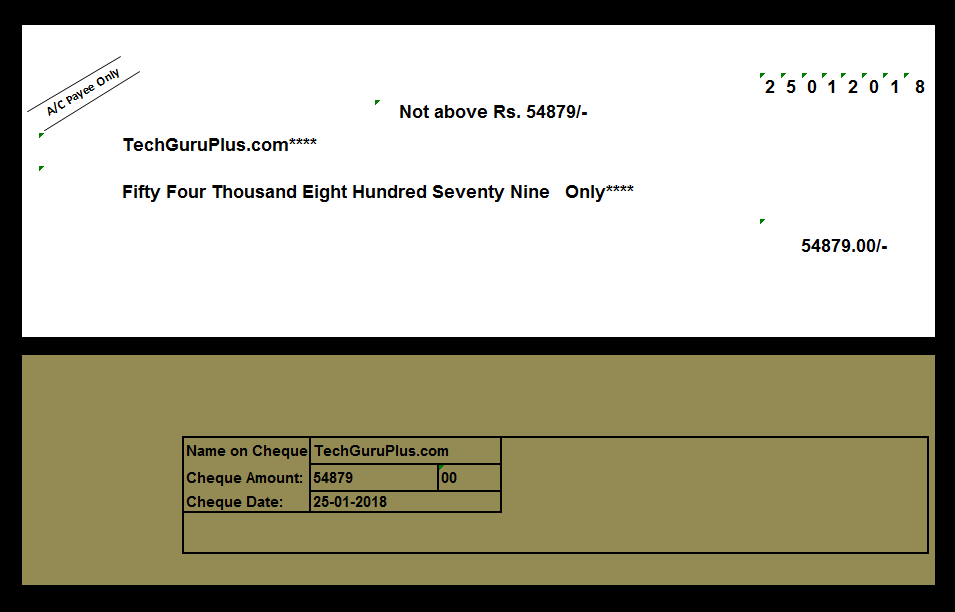 bank cheque printing format in excel free download